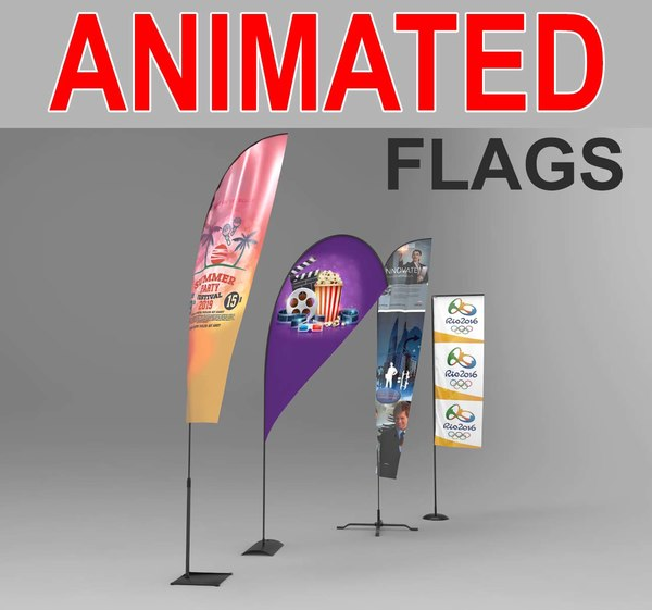 x advertising flags