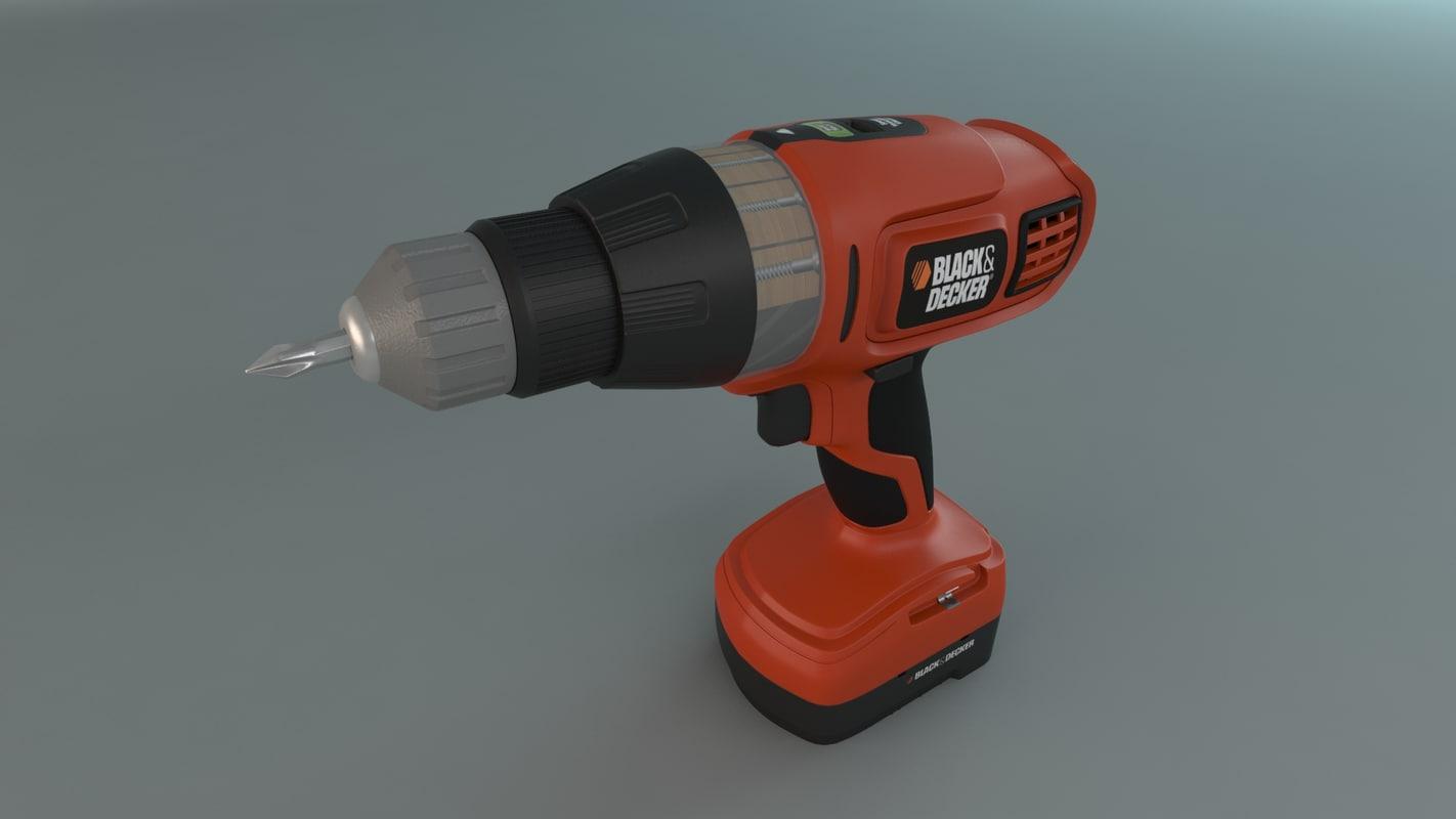 drill black dacker 3d max