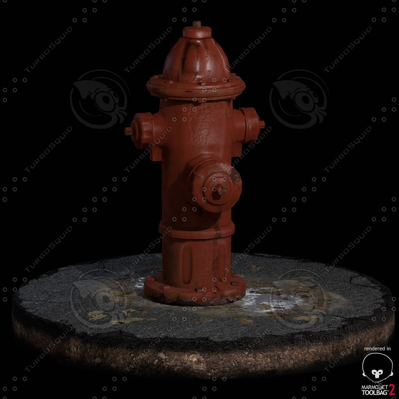 3d environment fireplug model
