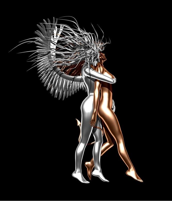 max statue angel demon