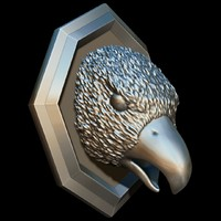 head sculpture bird 3d model