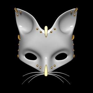 3d model cat mask