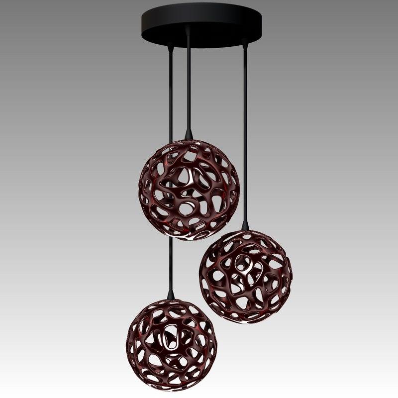 3d model chandelier modern lamp
