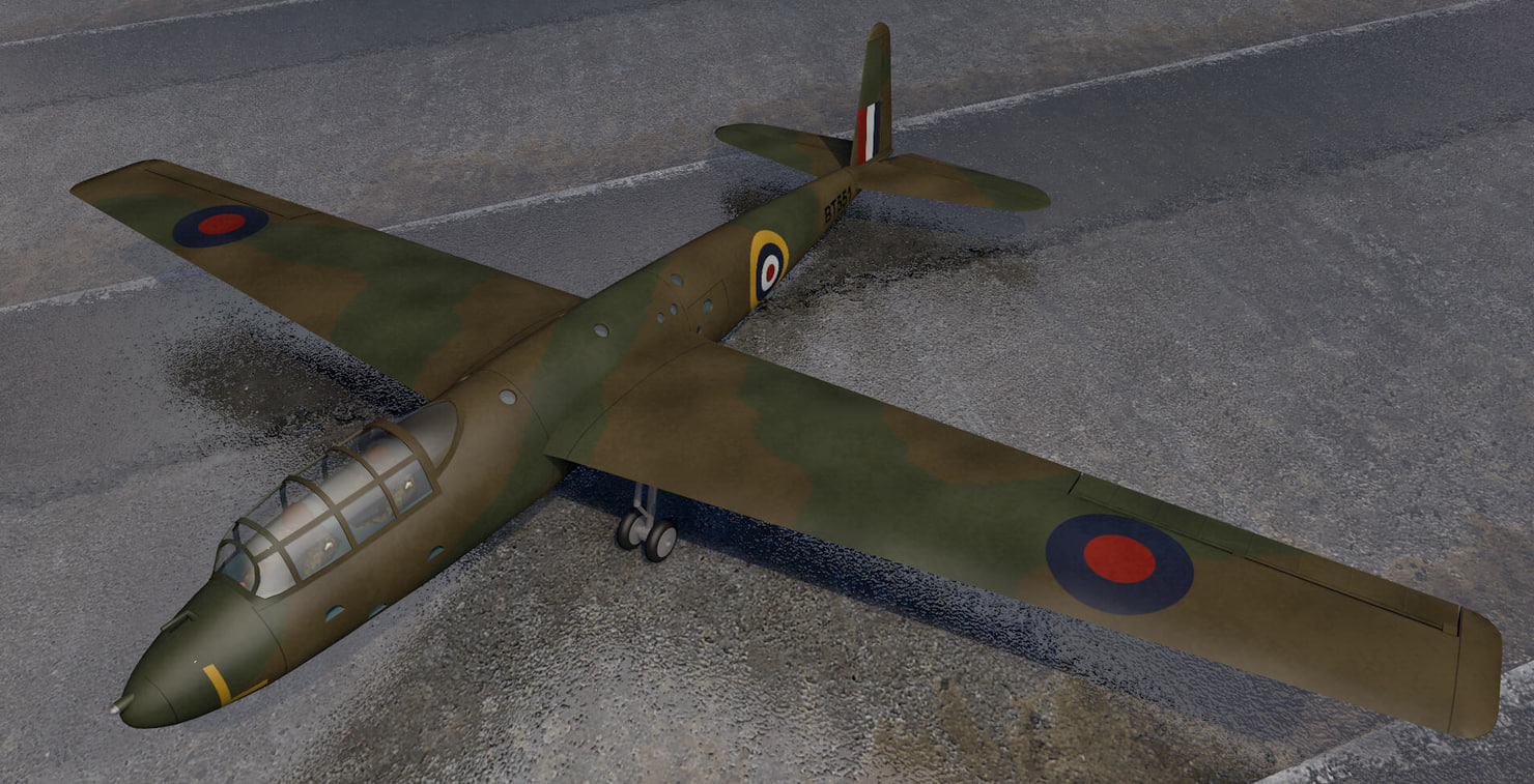 general aircraft gal-48 hotspur 3d model