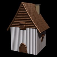 3d model of house wood