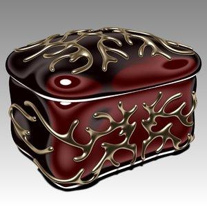 jewelry box jewel 3d c4d