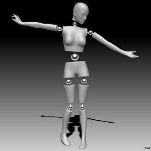 3d model mannequin female