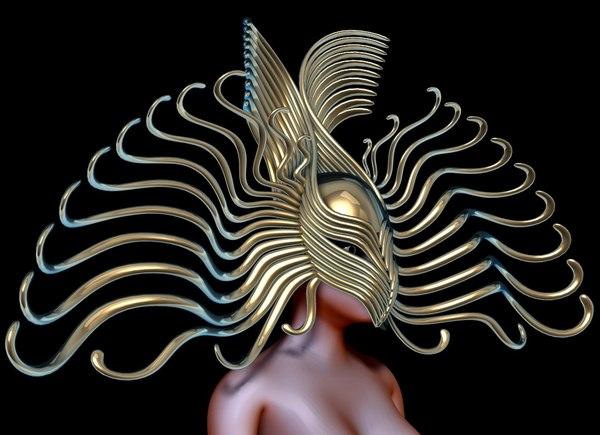 3d model mask accessory