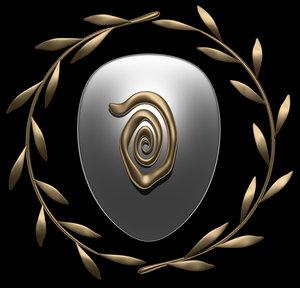 olive shield crest 3d model