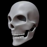 skull 3d 3ds