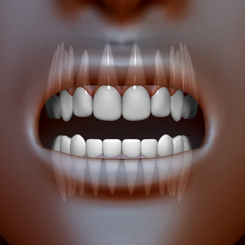 teeth 3d c4d