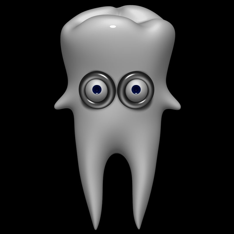 3d cartoon tooth model