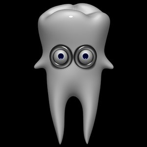 3d cartoon tooth model