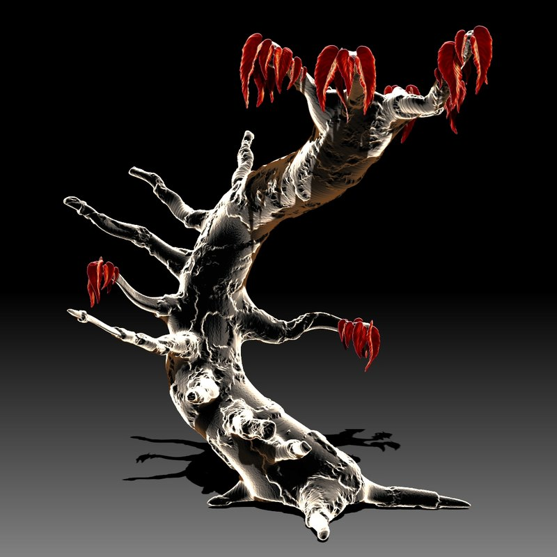 tree unique 3d model