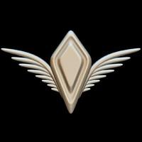 3d wings crest
