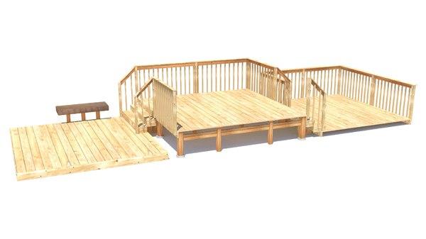 3d model deck level