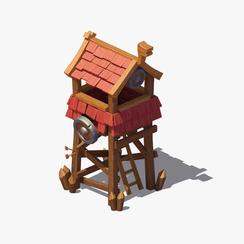 viking tower 3d max