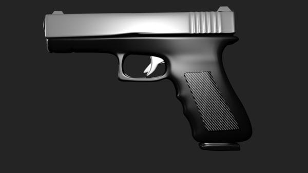 glock pistol 3d model