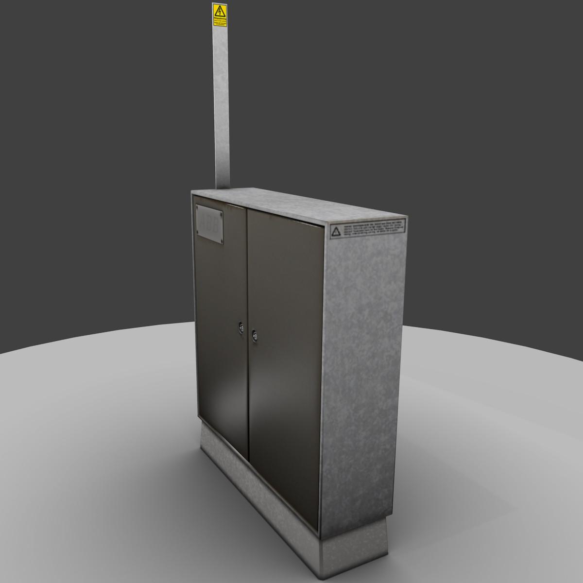 utility box 3d model