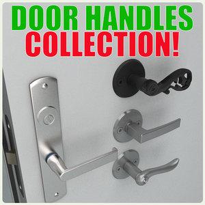 door handles 3d max