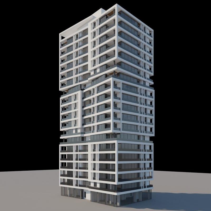 3d model v-ray apartment