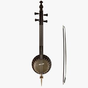 3d kamancheh iranian instrument