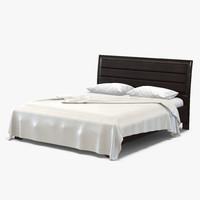 queen bed 3 3d max