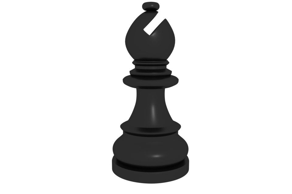 chess pieces - bishop 3d 3ds