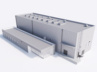 industrial building 19 3d max