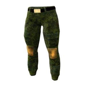 3d pant military model