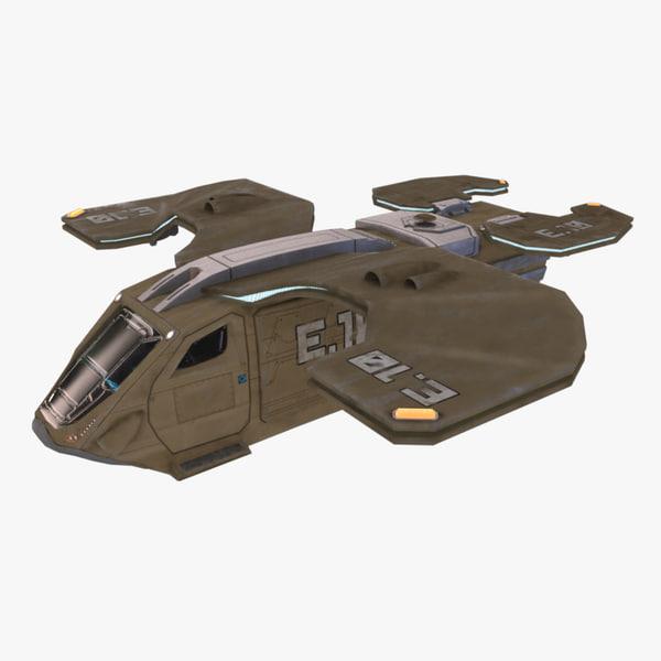 3d model military transport ship