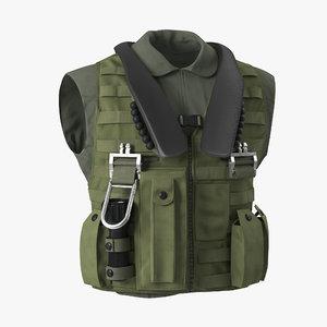3d model military vest