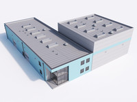 3d model of industrial building 20