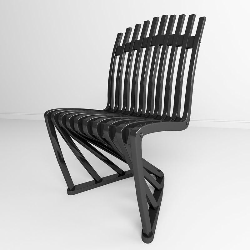 3d max stripe chair