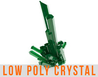 Crystal Low Poly Diamond Mineral