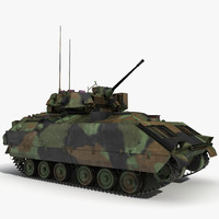 Infantry Fighting Vehicle Bradley M2 Rigged Camo