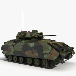 3d infantry fighting vehicle bradley m2 model