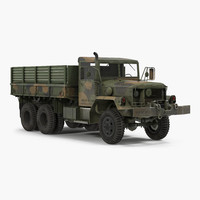 3d military cargo truck m35a2 model