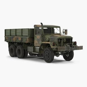 3d military cargo truck m35a2 model