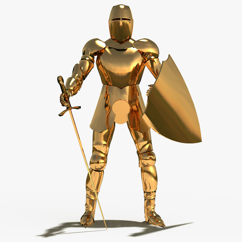 decorate knight sculpture 1 max
