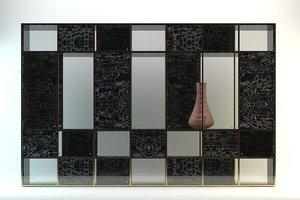 3d model room display cabinet