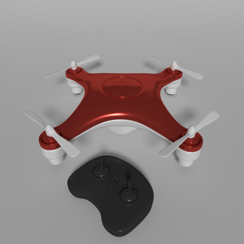 3d model quadcopter drone quads