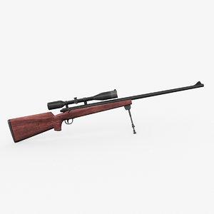 m40 rifle sniper 3d model