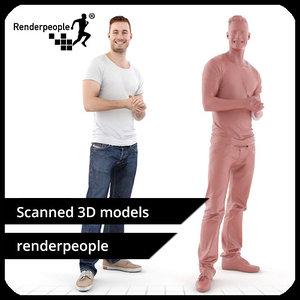 3d model photorealistic human aaron 0402
