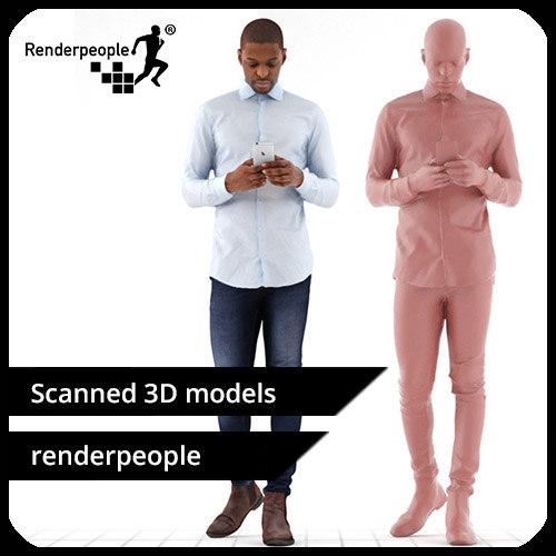 3d model photorealistic human andrew 0357