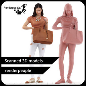 3d photorealistic human belle 0311 model