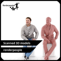 3d photorealistic human ben 0399 model