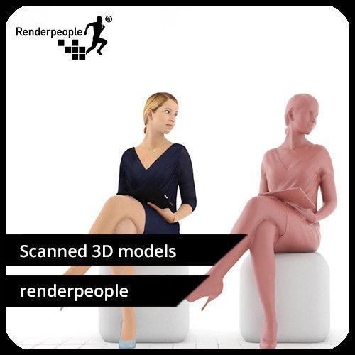 photorealistic human celina 0310 3d model