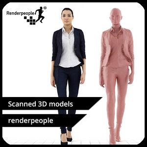 3d photorealistic human jessica 0323 model