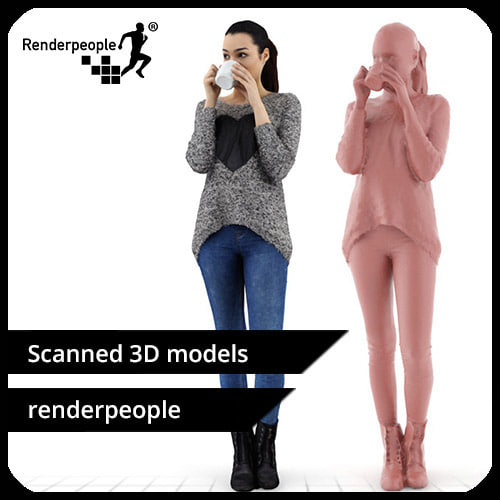 3d photorealistic human jessica 0349